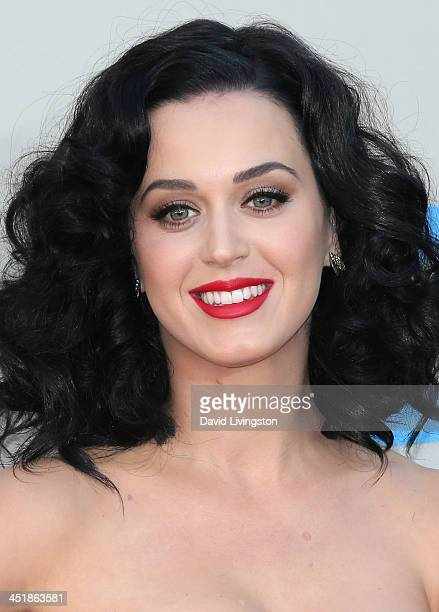 Singer Katy Perry attends the 2013 American Music Awards at Nokia Theatre LA Live on November 24 2013 in Los Angeles California