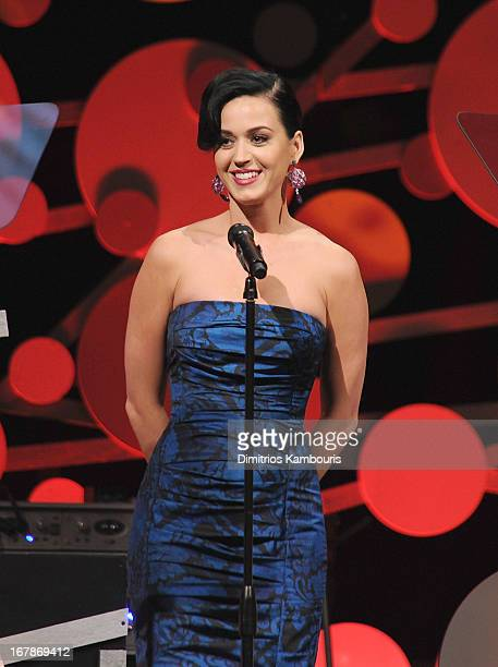 Singer Katy Perry attends the 2013 Delete Blood Cancer Gala honoring Vera Wang Leighton Meester and Suzi WeissFischmann on May 1 2013 in New York City