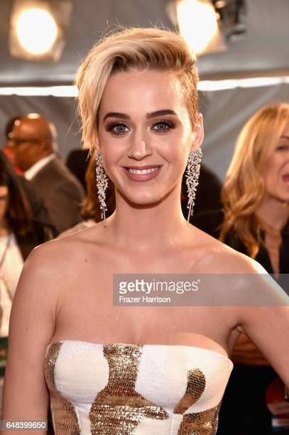 Singer Katy Perry attends the 2017 iHeartRadio Music Awards which broadcast live on Turner's TBS TNT and truTV at The Forum on March 5 2017 in...
