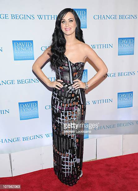Singer Katy Perry attends the 2nd Annual David Lynch Foundation's Change Begins Within Benefit Celebration at The Metropolitan Museum of Art on...