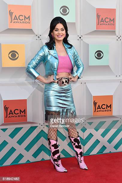 Singer Katy Perry attends the 51st Academy of Country Music Awards at MGM Grand Garden Arena on April 3 2016 in Las Vegas Nevada