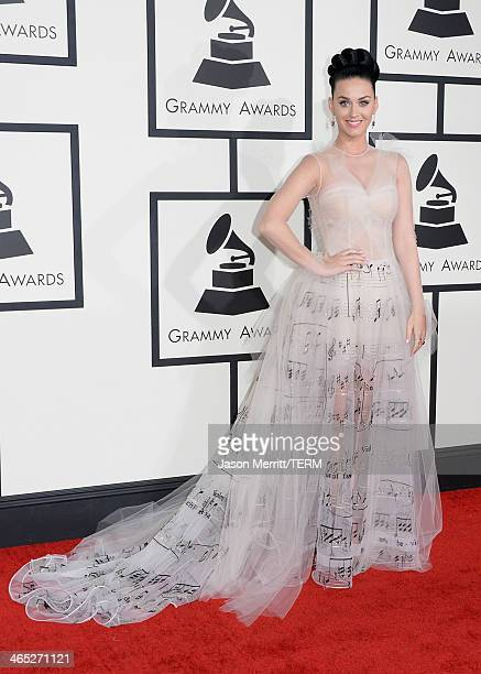 Singer Katy Perry attends the 56th GRAMMY Awards at Staples Center on January 26 2014 in Los Angeles California