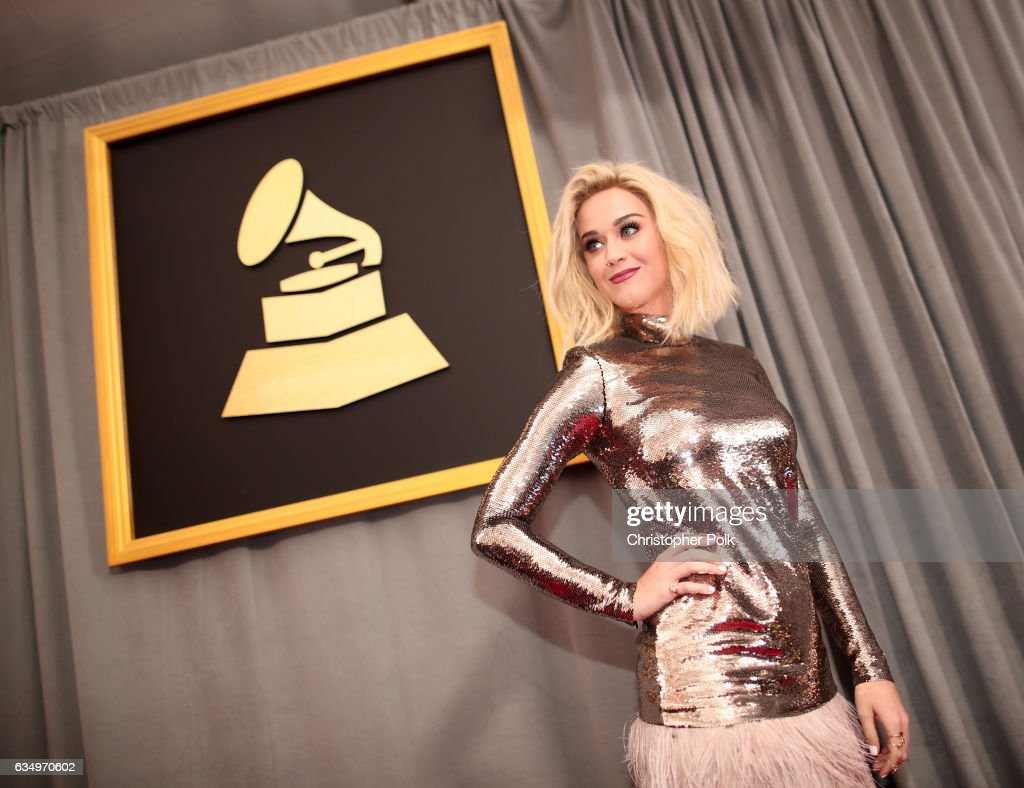 Singer Katy Perry attends The 59th GRAMMY Awards at STAPLES Center on February 12, 2017 in Los Angeles, California.