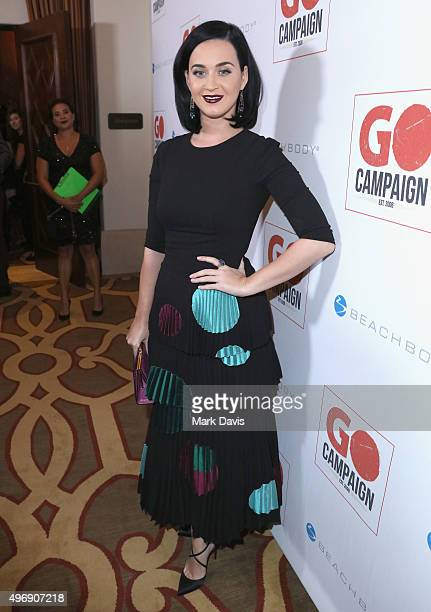 Singer Katy Perry attends the 8th Annual GO Campaign Gala at Montage Beverly Hills on November 12 2015 in Beverly Hills California