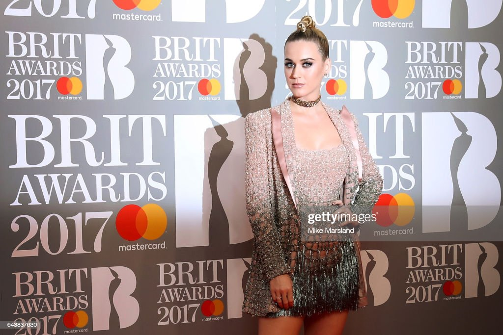 Singer Katy Perry attends The BRIT Awards 2017 at The O2 Arena on February 22, 2017 in London, England.