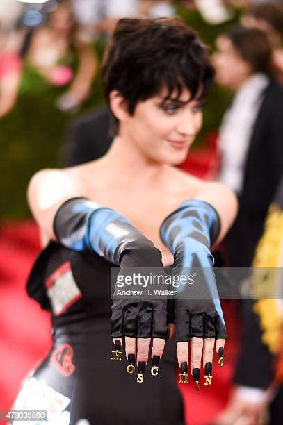 Singer Katy Perry attends the 'China Through The Looking Glass' Costume Institute Benefit Gala at the Metropolitan Museum of Art on May 4 2015 in New...