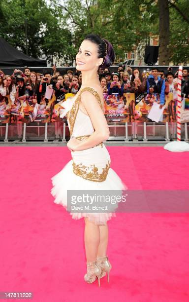 Singer Katy Perry attends the European Premiere of 'Katy Perry Part Of Me 3D' at Empire Leicester Square on July 3 2012 in London England