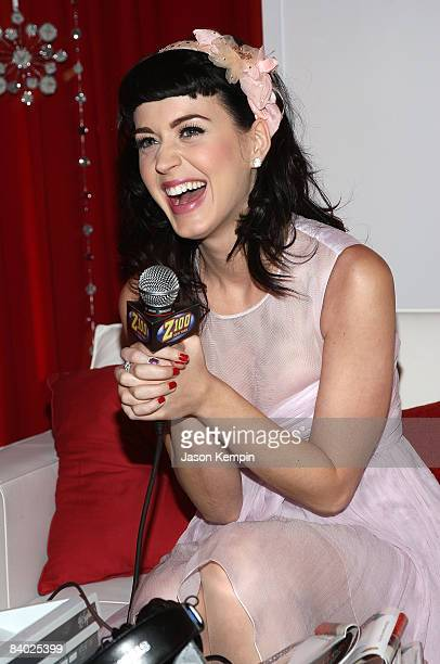 Singer Katy Perry attends the HM Artist Lounge at Jingle Ball at Madison Square Garden on December 12 2008 in New York City