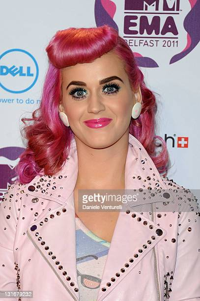 Singer Katy Perry attends the 'MTV Europe Music Awards 2011' at Odyssey Arena on November 6 2011 in Belfast Northern Ireland
