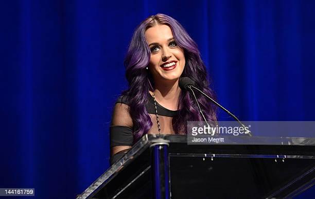 Singer Katy Perry attends the NARM Music Biz Awards dinner party held at the Hyatt Regency Century Plaza on May 10, 2012 in Century City, California.