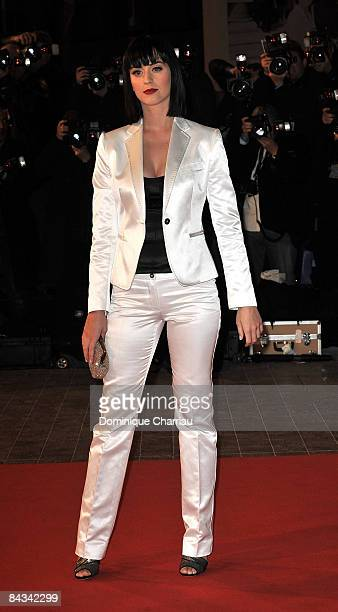 Singer Katy Perry attends the NRJ Music Awards 2009 held at the Palais des Festivals on January 17 2009 in Cannes France