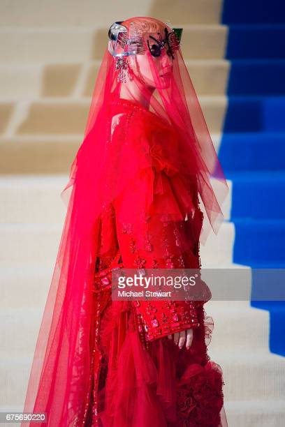 Singer Katy Perry attends the 'Rei Kawakubo/Comme des Garcons Art Of The InBetween' Costume Institute Gala at Metropolitan Museum of Art on May 1...