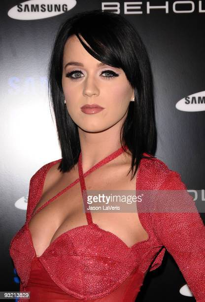 Singer Katy Perry attends the Samsung Behold II premiere launch party at Boulevard3 on November 18 2009 in Hollywood California