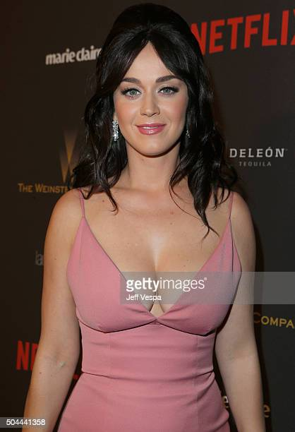 Singer Katy Perry attends The Weinstein Company and Netflix Golden Globe Party presented with DeLeon Tequila Laura Mercier Lindt Chocolate Marie...