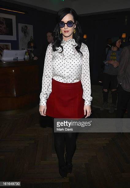 Singer Katy Perry attends Tommy Hilfiger New West Coast Flagship Opening After Party at a Private Club on February 13 2013 in West Hollywood...