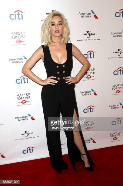 Singer Katy Perry attends Universal Music Group's 2017 GRAMMY after party at The Theatre at Ace Hotel on February 12 2017 in Los Angeles California