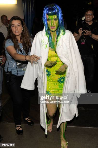 COVERAGE** Singer Katy Perry backstage at Nickelodeon's 23rd Annual Kids' Choice Awards held at UCLA's Pauley Pavilion on March 27 2010 in Los...