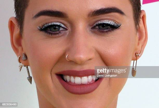 Singer Katy Perry earring nose ring detail attends 1027 KIIS FM's 2017 Wango Tango at StubHub Center on May 13 2017 in Carson California