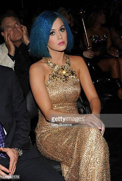 Singer Katy Perry in the audience at the 54th Annual GRAMMY Awards held at Staples Center on February 12 2012 in Los Angeles California