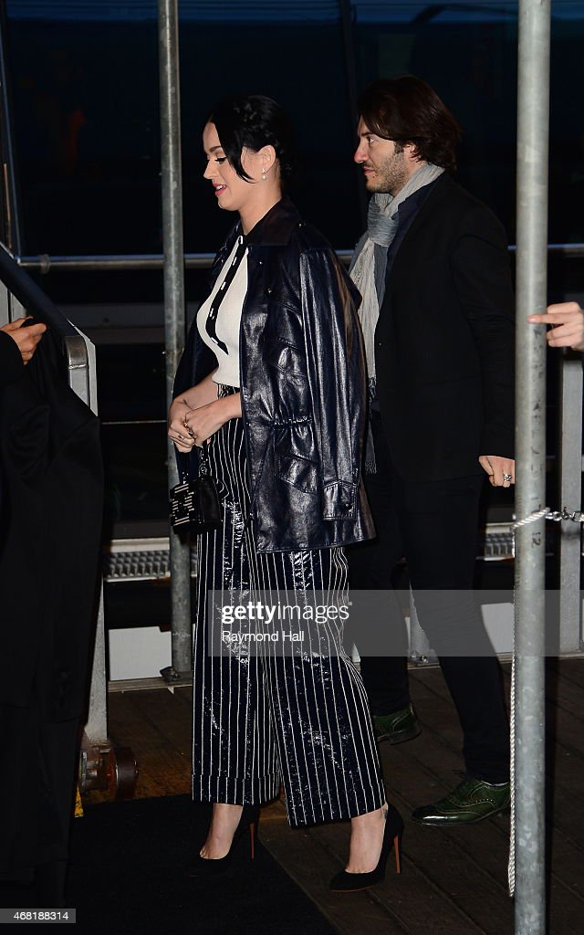 Singer Katy Perry is seen at the Chanel yacht party at Chelsea Pier on March 30, 2015 in New York City.