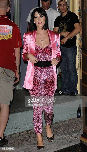 Singer Katy Perry is sighted in the early morning hours on April 30 2009 in Miami