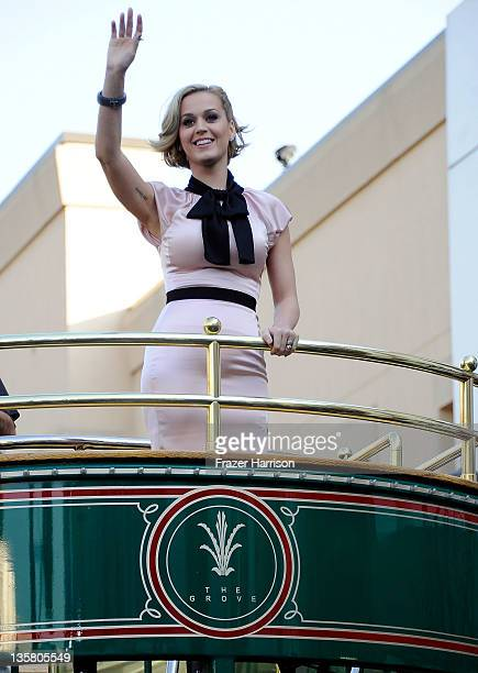Singer Katy Perry makes an appearance at Nordstrom at The Grove at Farmers Market to launch her new fragrance Meow at The Grove on December 14 2011...