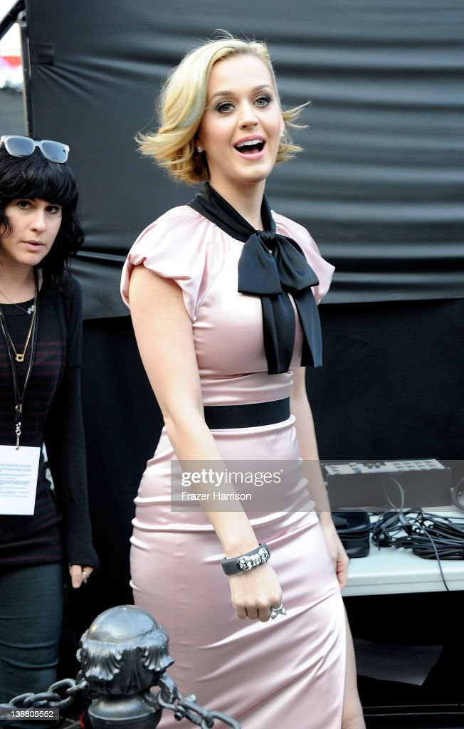 Singer Katy Perry makes an appearance at Nordstrom at The Grove at Farmers Market to launch her new fragrance 'Meow!' at The Grove on December 14, 2011 in Los Angeles, California.