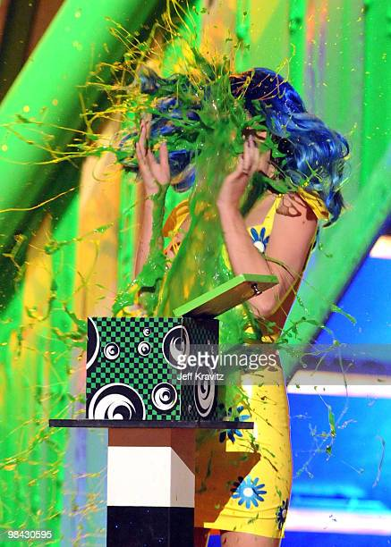 Singer Katy Perry onstage at Nickelodeon's 23rd Annual Kids' Choice Awards held at UCLA's Pauley Pavilion on March 27 2010 in Los Angeles California