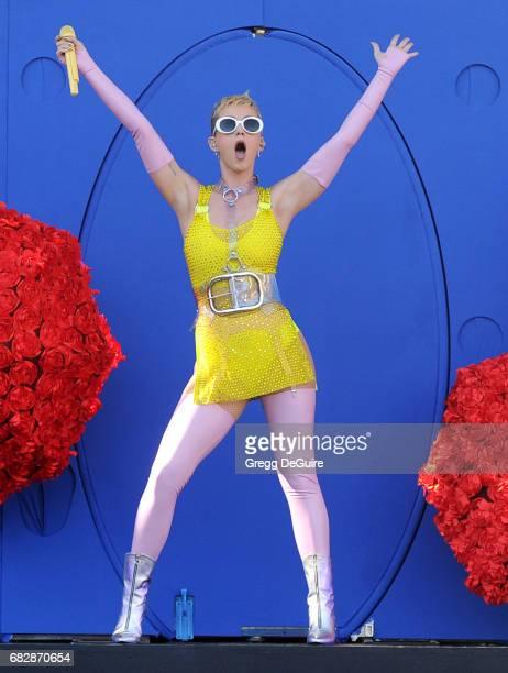 Singer Katy Perry performs at 1027 KIIS FM's 2017 Wango Tango at StubHub Center on May 13 2017 in Carson California