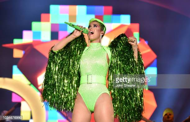 Singer Katy Perry performs at the 2018 Kaaboo Del Mar Festival at Del Mar Fairgrounds on September 16 2018 in Del Mar California
