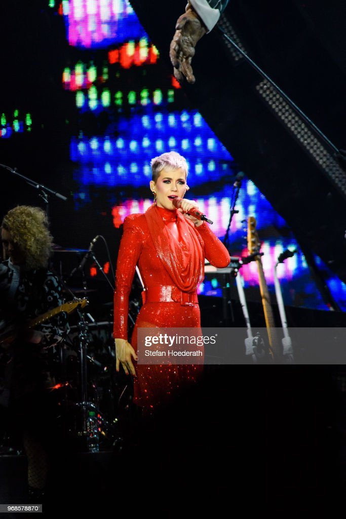 Singer Katy Perry performs live on stage during a concert at
