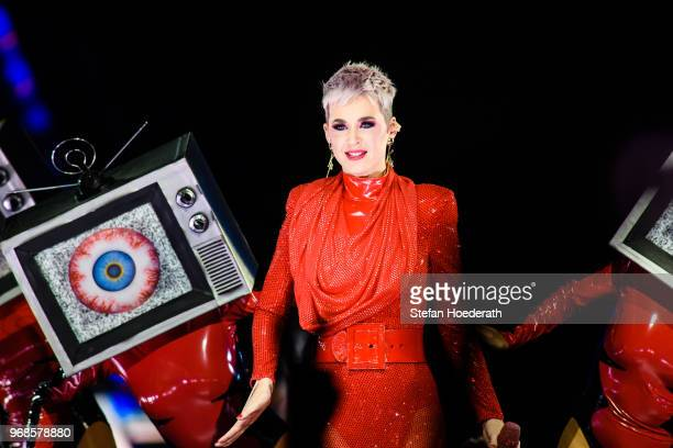 Singer Katy Perry performs live on stage during a concert at MercedesBenz Arena on June 6 2018 in Berlin Germany