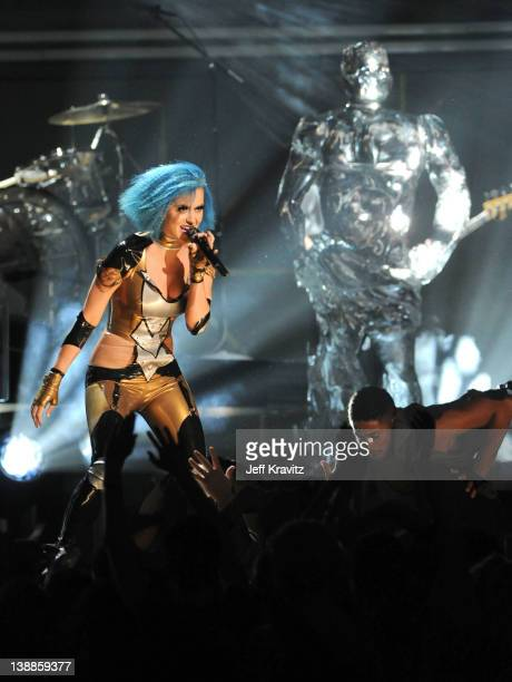 Singer Katy Perry performs onstage at the 54th Annual GRAMMY Awards held at Staples Center on February 12, 2012 in Los Angeles, California.