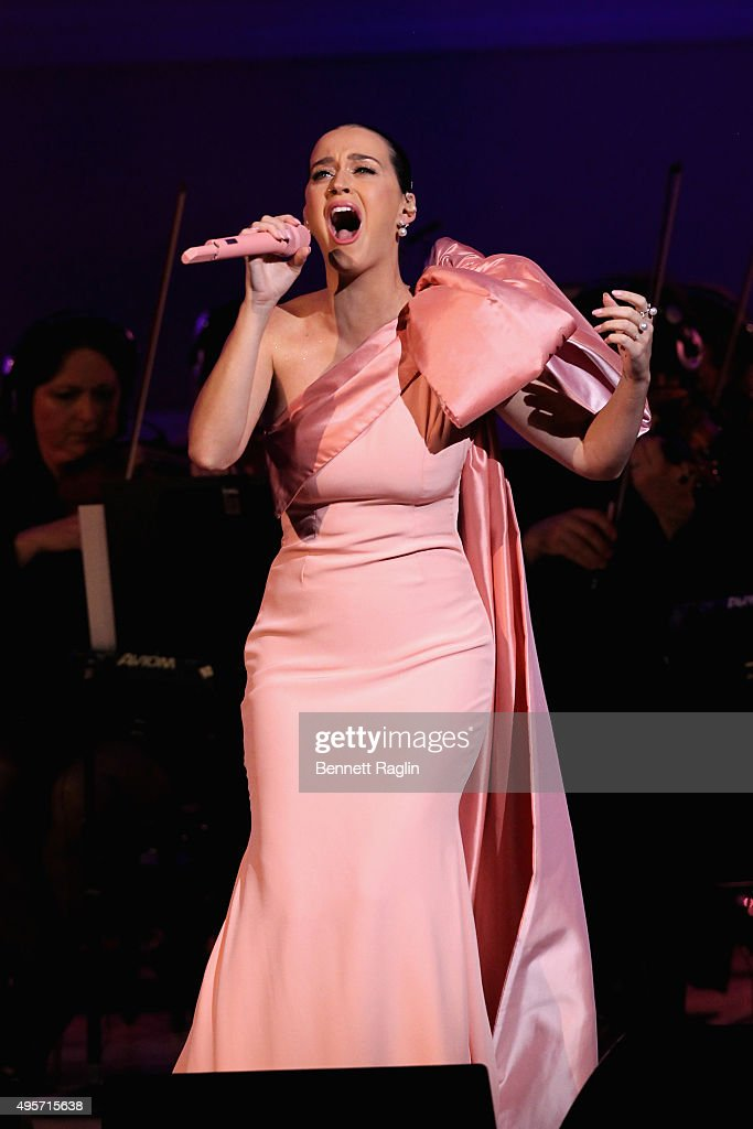 Singer Katy Perry performs onstage during Change Begins Within: A David Lynch Foundation Benefit Concert on November 4, 2015 in New York City.