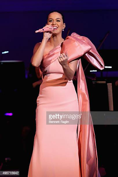 Singer Katy Perry performs onstage during Change Begins Within A David Lynch Foundation Benefit Concert on November 4 2015 in New York City