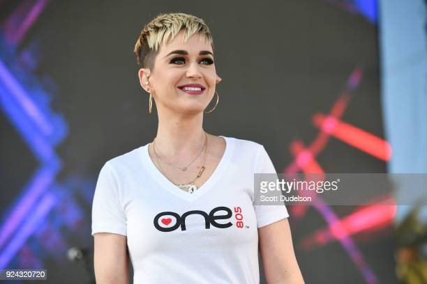 Singer Katy Perry performs onstage during the One 805 Kick Ash Bash benefiting First Responders at Bella Vista Ranch Polo Club on February 25 2018 in...
