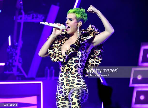 Singer Katy Perry performs onstage for Citi Sound Vault at The Theatre at Ace Hotel on September 10 2018 in Los Angeles California