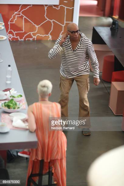 Singer Katy Perry plays charades with RuPaul during 'Katy Perry Witness World Wide' an exclusive event where fans around the world get a sneak peek...