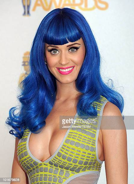 Singer Katy Perry poses in the press room at the 2010 MTV Movie Awards at Gibson Amphitheatre on June 6 2010 in Universal City California