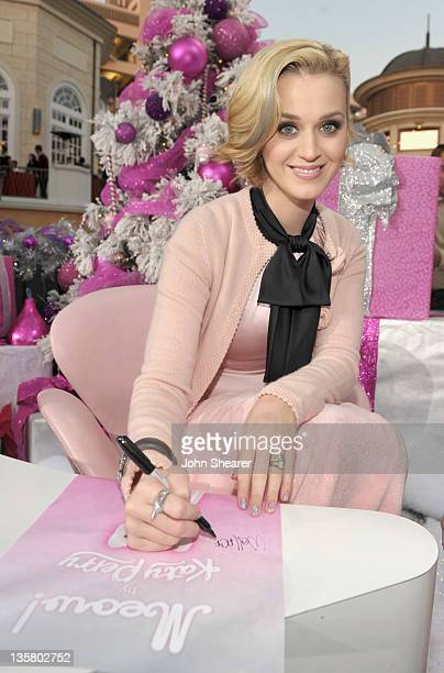 Singer Katy Perry signs autographs at Katy Perry launches MEOW by Katy Perry available exclusively at Nordstrom held at The Grove on December 14 2011...