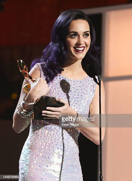 Singer Katy Perry speaks onstage at the 2012 Billboard Music Awards at the MGM Grand Garden Arena on May 20 2012 in Las Vegas Nevada