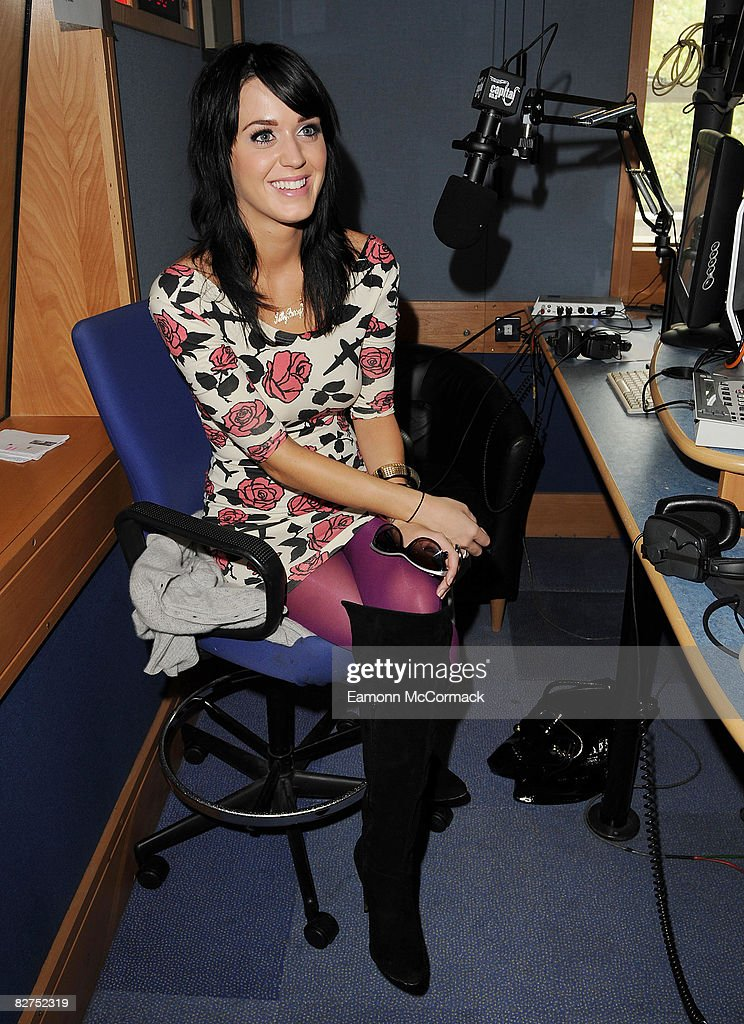 Will Young And Kate Perry Visit Capital Radio Breakfast Show : News Photo