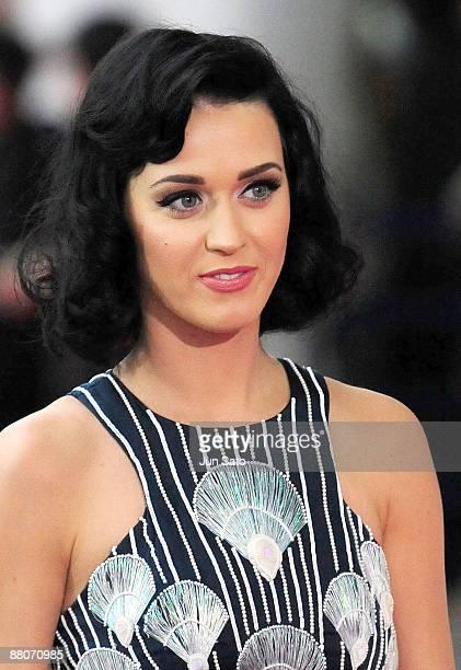 Singer Katy Perry walks on the red carpet during the MTV Video Music Awards Japan 2009 at Saitama Super Arena on May 30 2009 in Saitama Japan