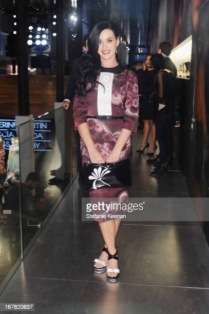 Singer Katy Perry, wearing Prada, attends Catherine Martin And Miuccia Prada Dress Gatsby Opening Cocktail on April 30, 2013 in New York City.