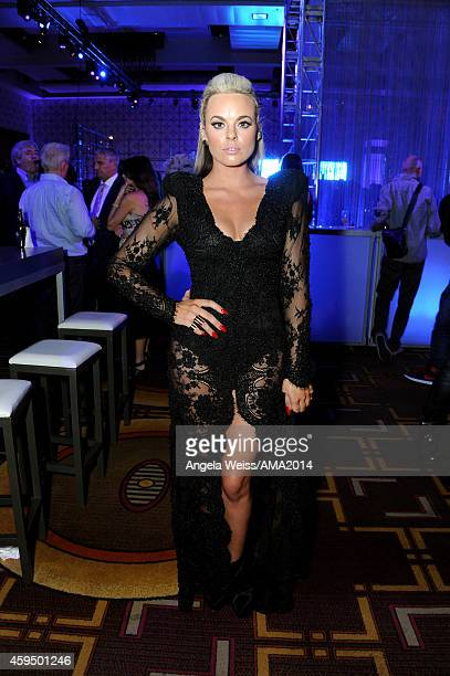 Singer Katy Tiz attends the official 2014 American Music Awards after party at the at Nokia Theatre LA Live on November 23 2014 in Los Angeles...