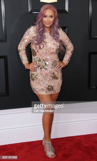 Singer Kaya Jones arrives at The 59th GRAMMY Awards at Staples Center on February 12 2017 in Los Angeles California