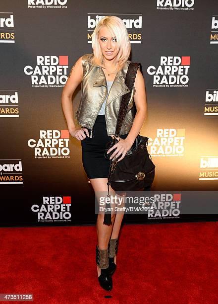 Singer Kaya Jones at Radio Row during the 2015 Billboard Music Awards at MGM Grand Garden Arena on May 15 2015 in Las Vegas Nevada