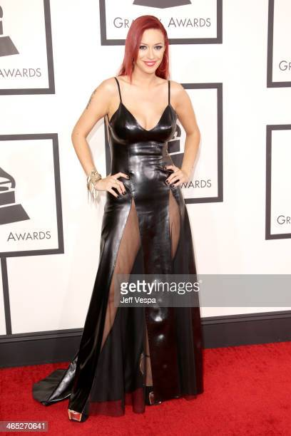 Singer Kaya Jones attends the 56th GRAMMY Awards at Staples Center on January 26 2014 in Los Angeles California