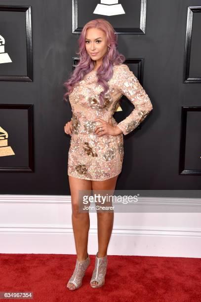 Singer Kaya Jones attends The 59th GRAMMY Awards at STAPLES Center on February 12 2017 in Los Angeles California