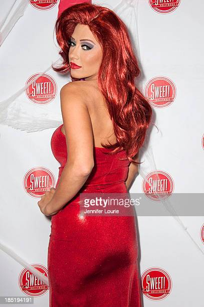 Singer Kaya Jones attends the former Pussycat Doll Kaya Jone's 'Halloween Doll' celebratory event at Sweet Hollywood Boutique on October 17 2013 in...